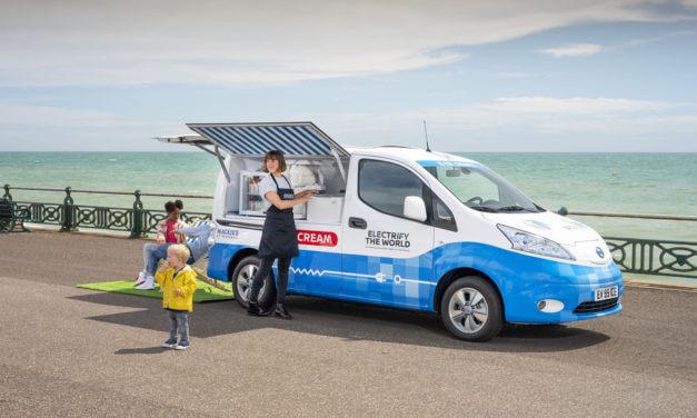 Nissan prezentuje koncepcję bezemisyjnej furgonetki do sprzedaży lodów