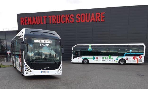 Elektryczne autobusy Volvo dla pracowników Renault Trucks
